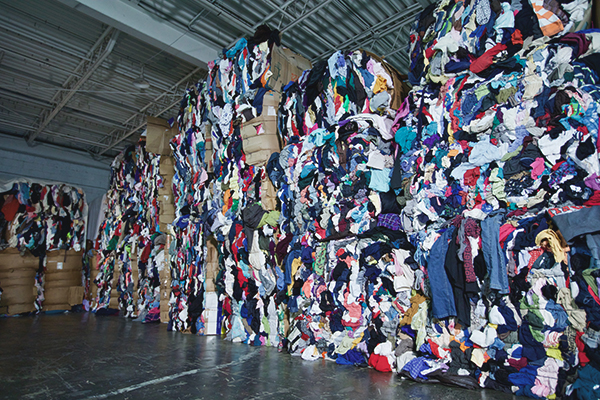 wall of rags